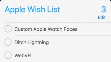 My Apple Wish List 2018